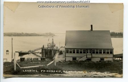 Landing, Friendship, ca. 1930