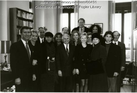 Sen. William S. Cohen with visitors, Washington, D.C., ca. 1995