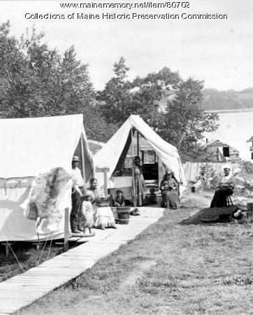 Wabanaki encampment, Bar Harbor, ca. 1887