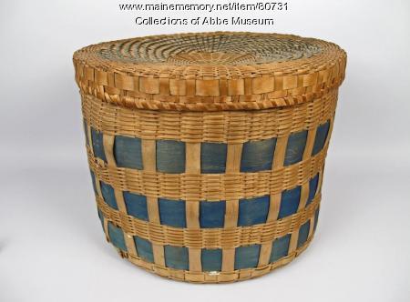 Band box basket, Penobscot, ca. 1850