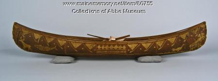 Miniature canoe, ca. 1893