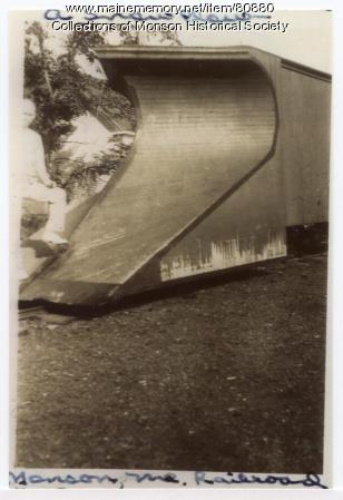 Narrow Gauge snow plow, Monson, ca. 1900