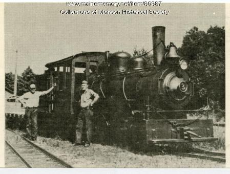Monson Narrow Gauge Number 3, Monson, ca. 1938