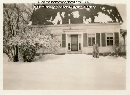 Carlson House, Monson, 1931