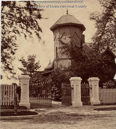 Gates to J.B. Brown estate