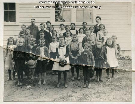 Village School Students, St. Albans, ca. 1903
