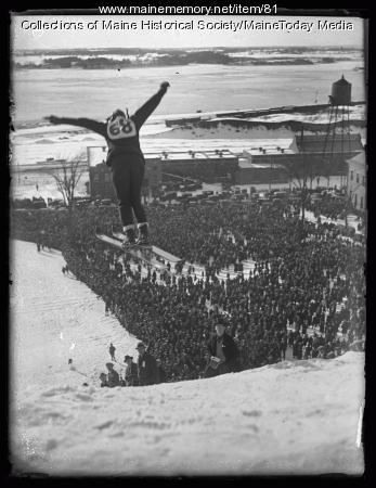 Ski jumper in Portland, 1924