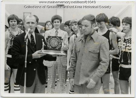 Rumford High School basketball trophy, 1976