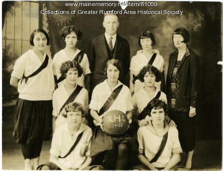 Rumford High School Girls Basketball Team, 1924-1925
