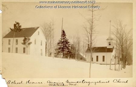 Monson Grammer School, Monson, ca. 1890