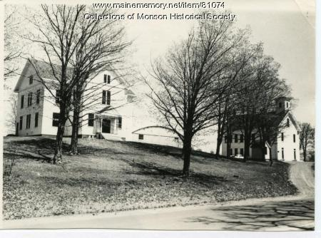Monson Academy & Elementary School, Monson, ca. 1945