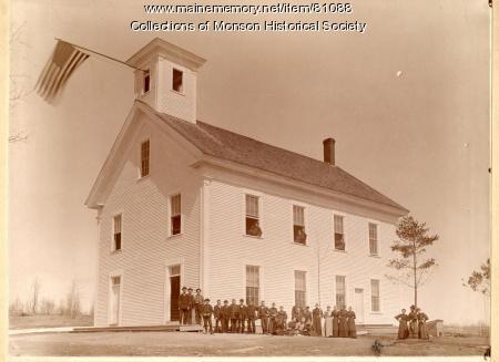 Early Photograph of Monson Academy, Monson, ca. 1900
