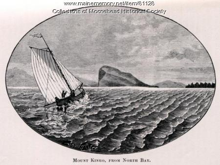 Mount Kineo from North Bay, ca. 1889