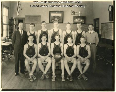 Monson Academy Basketball Team 1935, Monson 1935