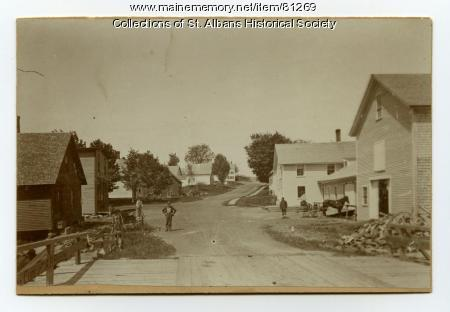 St. Albans Village, Looking West, 1895