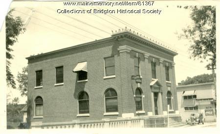 Former Casco Bank Building, Bridgton, ca. 1938