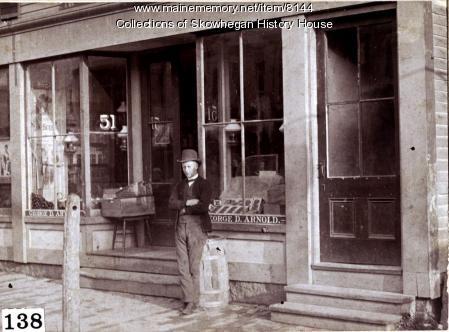 South side of Water Street, Skowhegan, 1884