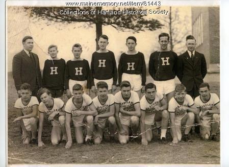 Hartland Academy Track Team, Hartland, 1942