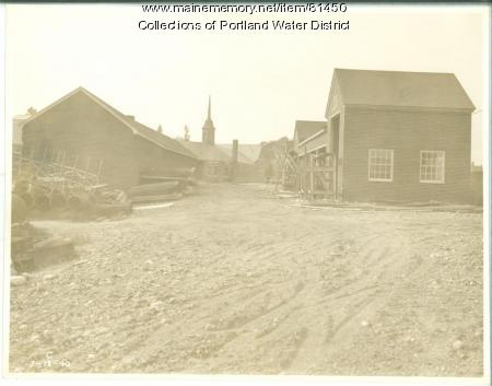 Portland Water District lumber sheds, Portland, ca. 1940