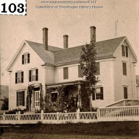 Maine memory network tillson dinsmore house skowhegan for The dinsmore house