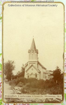 Swedish Lutheran Church, Monson, ca. 1910