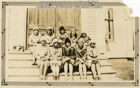 Baptist Church Sunday School Class, Monson, 1931