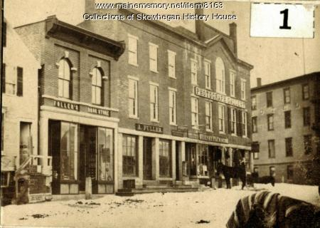 West side, Madison Avenue, Skowhegan, ca. 1900