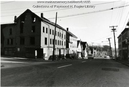 Hancock Street buildings, Bangor, ca. 1976