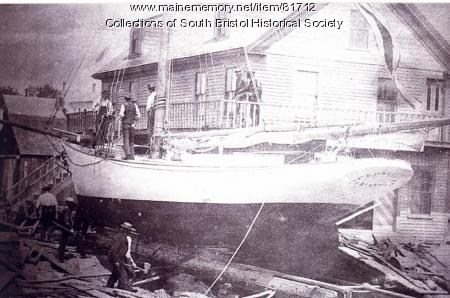 """Launching of """"Florence,"""" South Bristol, 1894"""