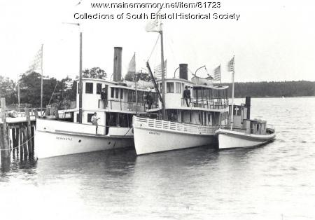 The Damariscotta River Steamboat Company fleet at South Bristol, 1902