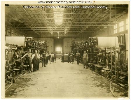 First Two Machines at Oxford Mill, Rumford, ca. 1901