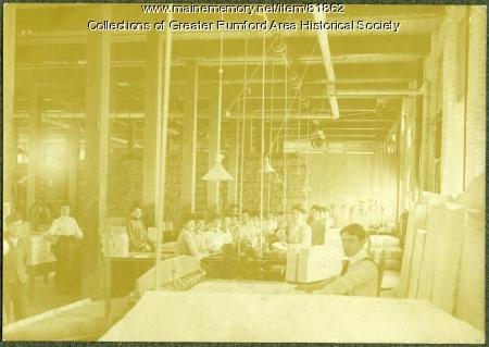 Postcard processing room, Oxford Paper Company, Rumford, 1903