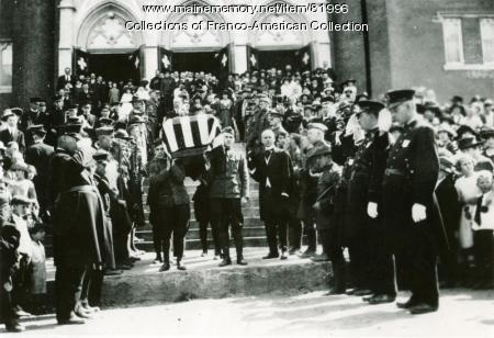 Edmond Leblond's Funeral, Auburn, 1918