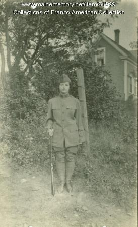 Woman in Army Uniform, Lewiston-Auburn, ca. 1917