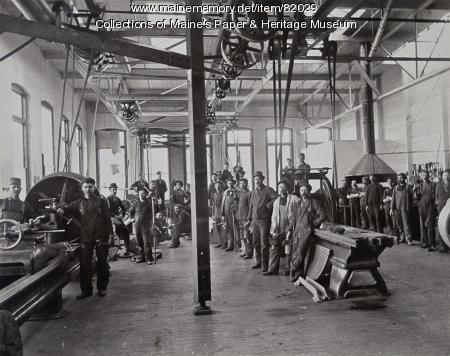 Otis Mill Machine Shop, Jay, ca. 1940
