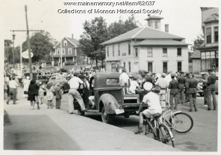 Victory over Japan Day celebration, Monson, 1945