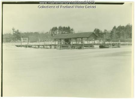 Wharf at Sebago Lake Station, 1933
