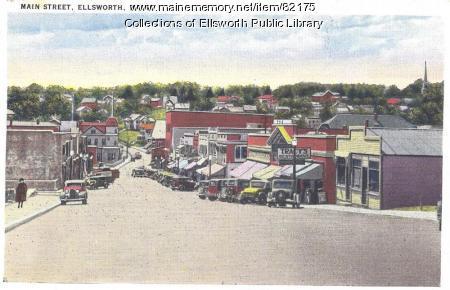 Main Street, Ellsworth, 1939
