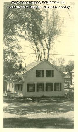 Methodist Church Parsonage, Main Street, Bridgton, ca. 1938