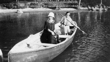Boating on Lake Auburn, 1925