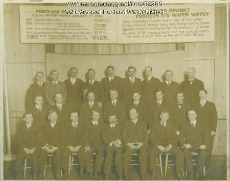 Portland Water District employees, ca. 1915