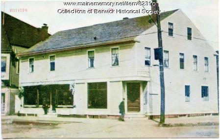 The First Post Office in Sullivan Square, Berwick, ca. 1872