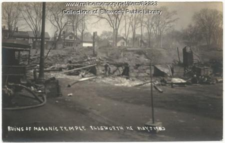 Ruins of Masonic Lodge, Ellsworth, 1933-05-08