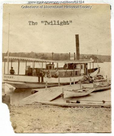 Twilight I Steamboat, Moosehead Lake, ca. 1888