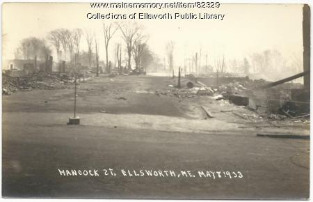 Hancock Street, Ellsworth, 1933