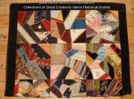 """""""Crazy quilt,"""" Great Cranberry Island, ca. 1880"""
