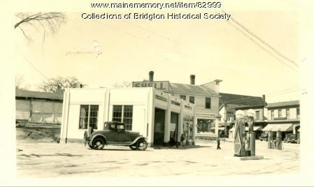 Shell Station on Main Street, Bridgton, ca. 1938