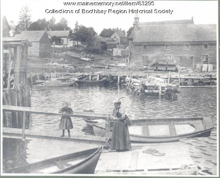 East Boothbay waterfront, 1899