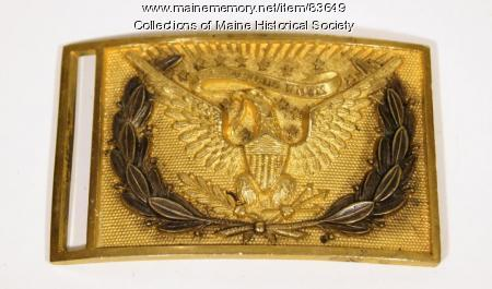 Union waist belt buckle, ca. 1861