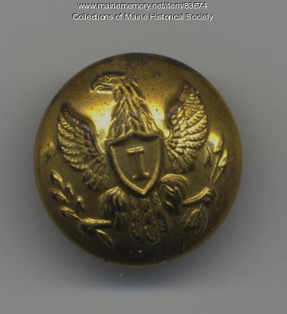 Civil War infantry button, ca. 1861